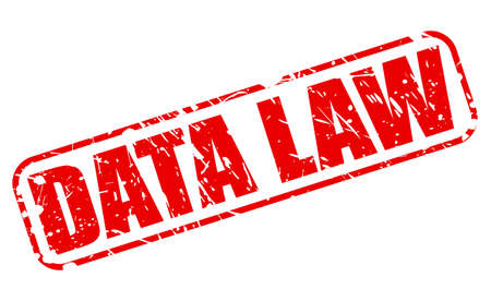 unlawful act: DATA LAW red stamp text on white