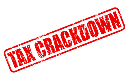 avoidance: TAX CRACKDOWN red stamp text on white Stock Photo