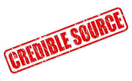 credible: CREDIBLE SOURCE red stamp text on white Stock Photo