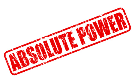 absolute: ABSOLUTE POWER red stamp text on white