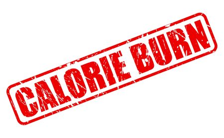 burn: CALORIE BURN red stamp text on white Stock Photo