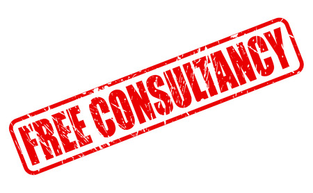 consultancy: FREE CONSULTANCY red stamp text on white Stock Photo