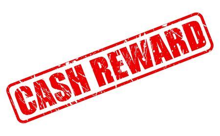 remuneraciones: Recompensa CASH texto del sello rojo sobre blanco