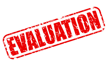 concluded: EVALUATION red stamp text on white