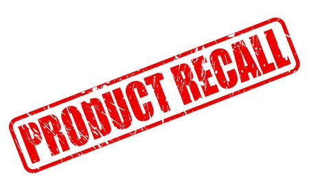 unreliable: PRODUCT RECALL red stamp text on white Stock Photo