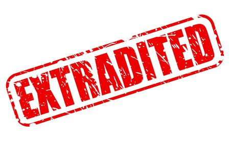 banish: EXTRADITED red stamp text on white Stock Photo