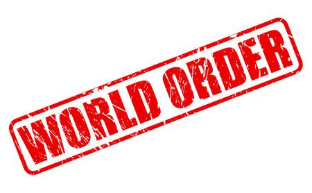 dominance: WORLD ORDER red stamp text on white