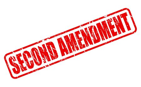 SECOND AMENDMENT red stamp text on white Stock Photo