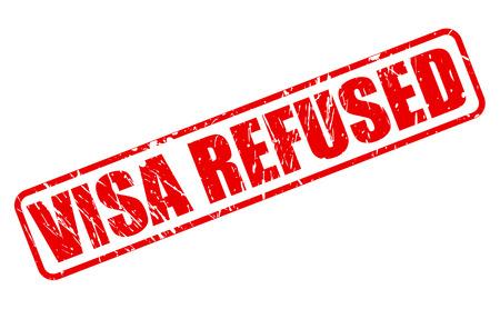 VISA REFUSED red stamp text on white 版權商用圖片 - 49914303