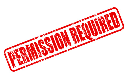 endorsed: PERMISSION REQUIRED red stamp text on white