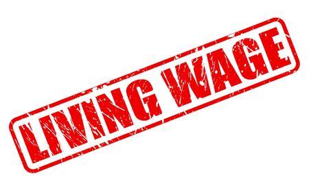 salarios: SALARIO texto del sello rojo sobre blanco Foto de archivo