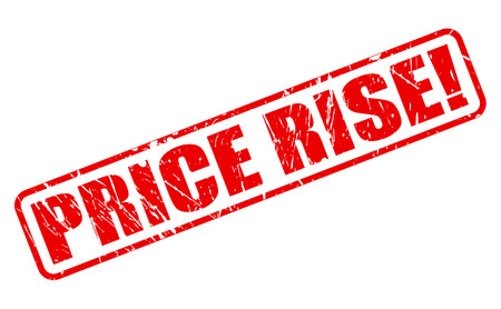 rise: PRICE RISE red stamp text on white