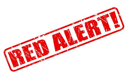 be alert: RED ALERT red stamp text on white