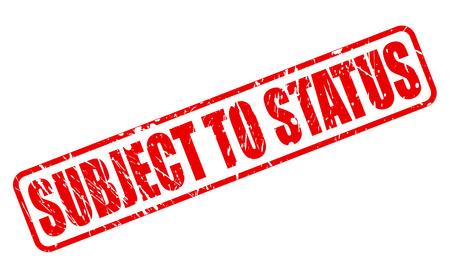 soumis: OBJET DE STATUT texte de timbre rouge sur fond blanc Banque d'images