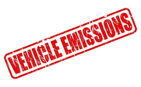 emissions: VEHICLE EMISSIONS red stamp text on white