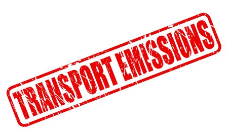 stolen identity: TRANSPORT EMISSIONS red stamp text on white