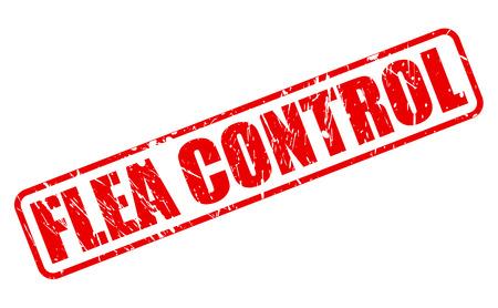 flea: FLEA CONTROL red stamp text on white Stock Photo