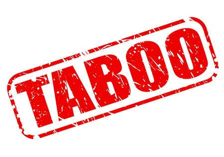 taboo: Taboo red stamp text on white