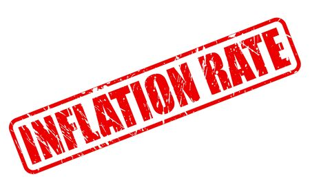 budgetary: INFLATION RATE red stamp text on white