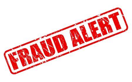 fraudulent: FRAUD ALERT red stamp text on white