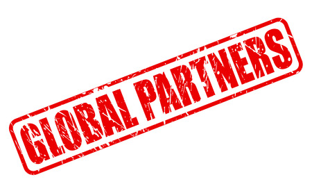 partners: GLOBAL PARTNERS red stamp text on white Stock Photo