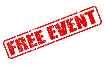 ocassion: FREE EVENT red stamp text on white