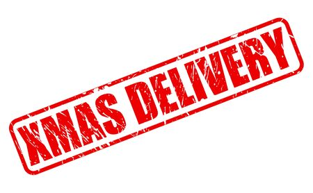 consignment: XMAS DELIVERY red stamp text on white
