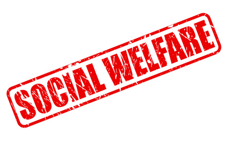 nhs: SOCIAL WELFARE red stamp text on white