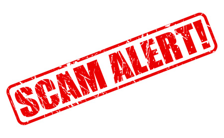 robbed: SCAM ALERT red stamp text on white