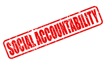 accountability: SOCIAL ACCOUNTABILITY red stamp text on white
