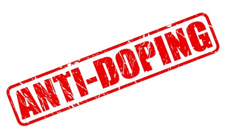 banish: ANTI-DOPING red stamp text on white
