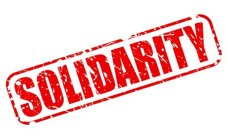 combined effort: SOLIDARITY red stamp text on white