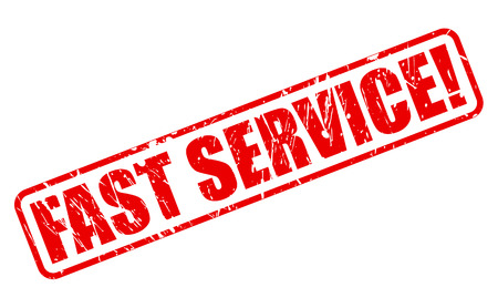 fast service: FAST SERVICE red stamp text on white