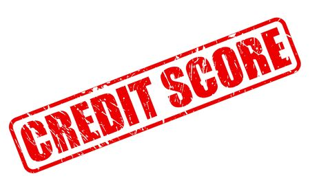 assess: CREDIT SCORE red stamp text on white Stock Photo