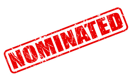 eligibility: Nominated red stamp text on white Stock Photo