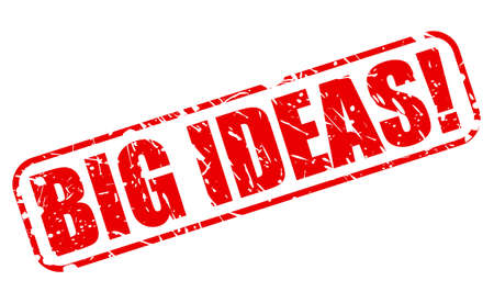 massive: BIG IDEAS red stamp text on white