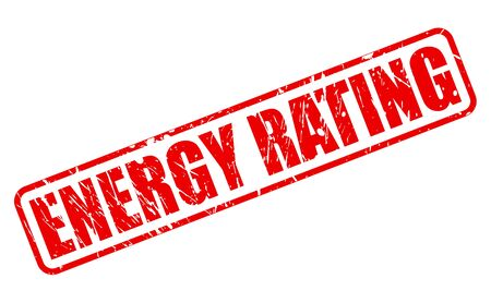 energy rating: ENERGY RATING red stamp text on white