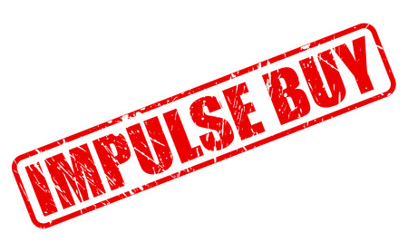 impulse: IMPULSE BUY red stamp text on white Stock Photo