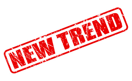 trend: New trend red stamp text on white Stock Photo