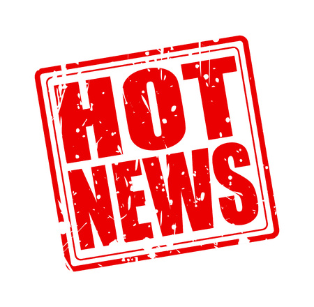hot news: Hot news red stamp text on white Stock Photo