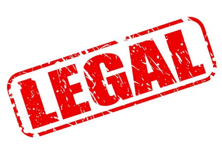 rightful: Legal red stamp text on white Stock Photo