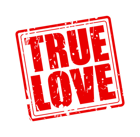 with true love: True love red stamp text on white