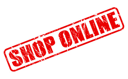 emporium: Shop online red stamp text on white