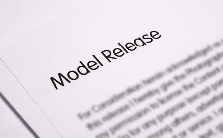 model release: Model release document for signature Stock Photo
