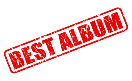 superiors: Best album red stamp text on white Stock Photo
