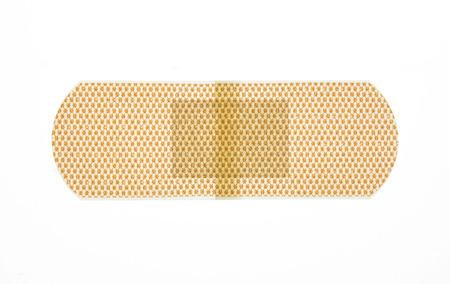 bandaid: Plaster band isolated over a white background Stock Photo