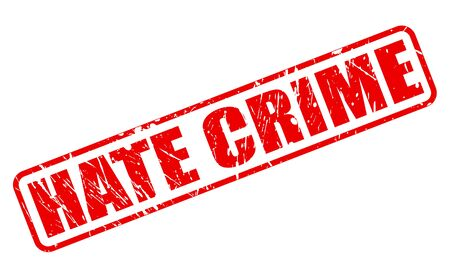 policing: HATE CRIME red stamp text on white Stock Photo