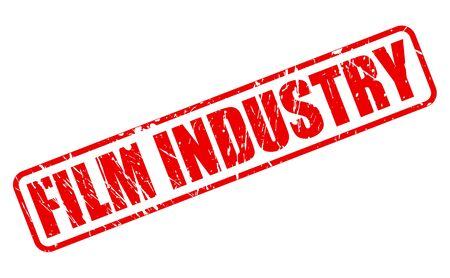 film industry: FILM INDUSTRY red stamp text on white