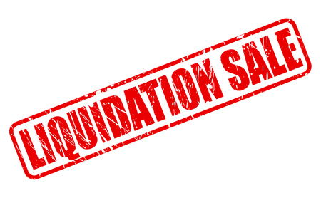 liquidation: Liquidation sale red stamp text on white Stock Photo