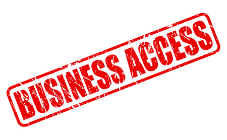 patronage: Business access red stamp text on white